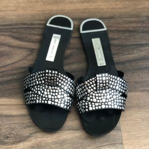 Zara Black Sandals with Studs